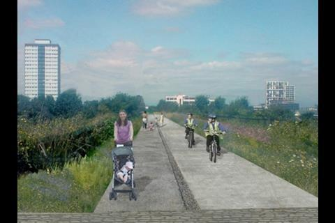 Greenway path after revamp